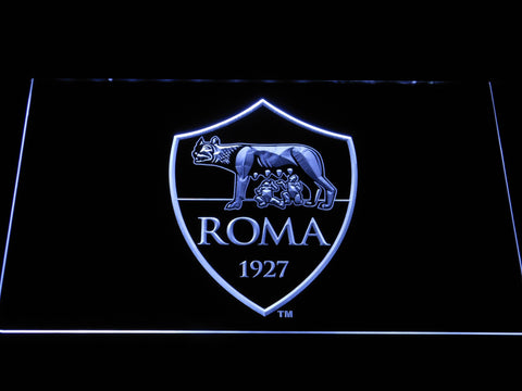 AS Roma LED Neon Sign - White - SafeSpecial