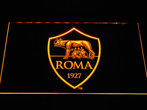AS Roma LED Neon Sign - Yellow - SafeSpecial