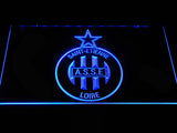 AS Saint-??tienne LED Neon Sign - Blue - SafeSpecial
