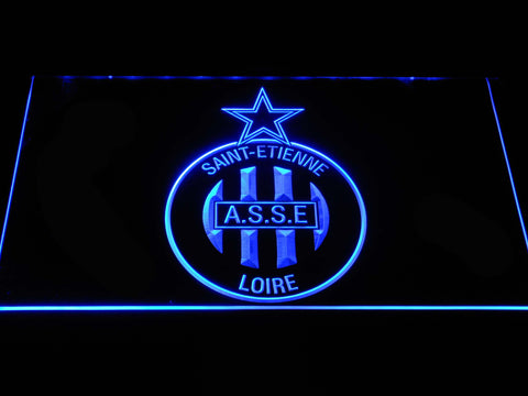 Image of AS Saint-Etienne LED Neon Sign - Blue - SafeSpecial