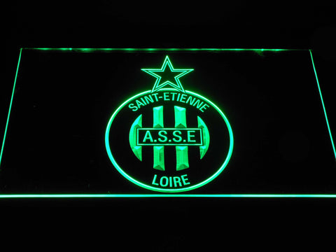Image of AS Saint-Etienne LED Neon Sign - Green - SafeSpecial
