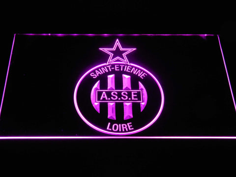 AS Saint-??tienne LED Neon Sign - Purple - SafeSpecial