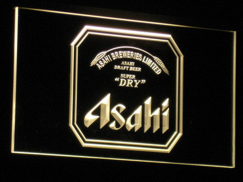 Asahi LED Neon Sign - Yellow - SafeSpecial