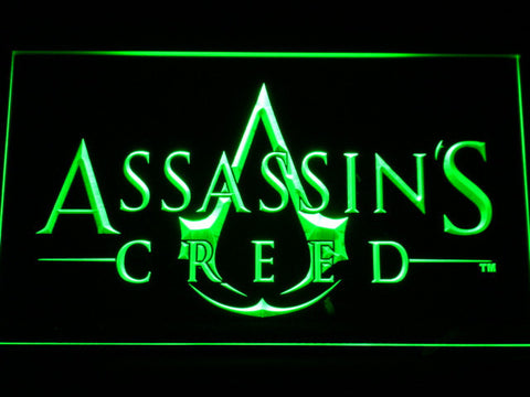 Image of Assasin's Creed LED Neon Sign - Green - SafeSpecial