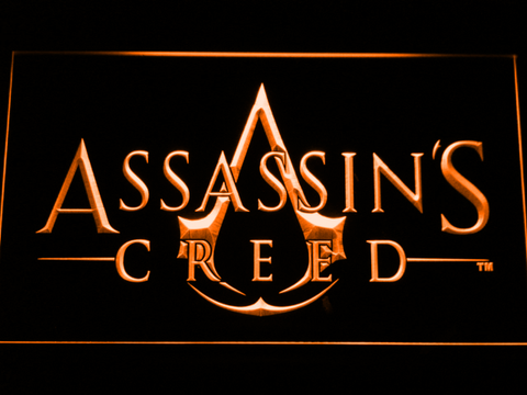 Image of Assasin's Creed LED Neon Sign - Orange - SafeSpecial