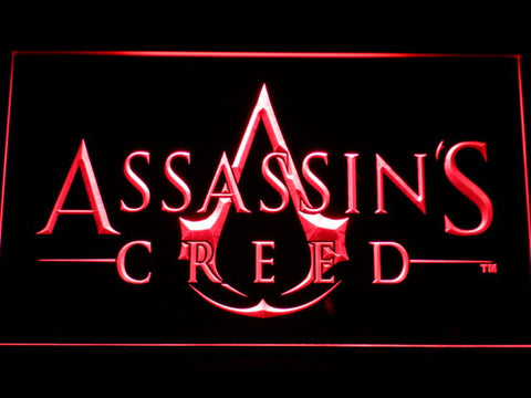 Image of Assasin's Creed LED Neon Sign - Red - SafeSpecial