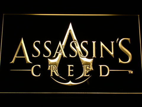 Image of Assasin's Creed LED Neon Sign - Yellow - SafeSpecial