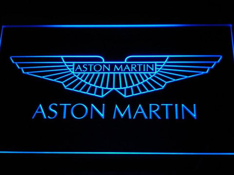 Image of Aston Martin LED Neon Sign - Blue - SafeSpecial