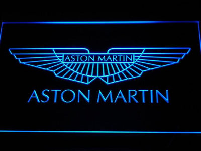 Aston Martin LED Neon Sign - Blue - SafeSpecial