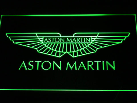 Image of Aston Martin LED Neon Sign - Green - SafeSpecial
