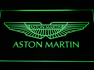 Aston Martin LED Neon Sign - Green - SafeSpecial