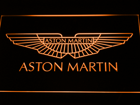 Image of Aston Martin LED Neon Sign - Orange - SafeSpecial
