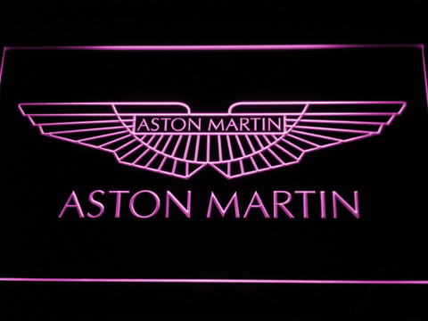Image of Aston Martin LED Neon Sign - Purple - SafeSpecial