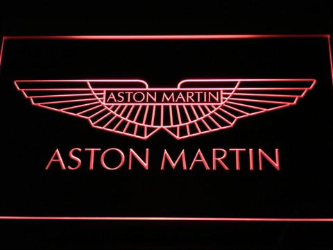 Image of Aston Martin LED Neon Sign - Red - SafeSpecial