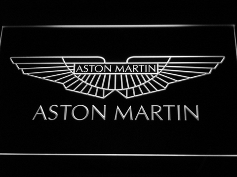 Image of Aston Martin LED Neon Sign - White - SafeSpecial