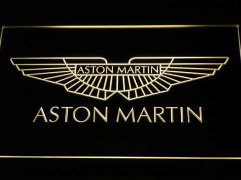Image of Aston Martin LED Neon Sign - Yellow - SafeSpecial