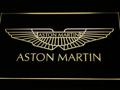Aston Martin LED Neon Sign - Yellow - SafeSpecial