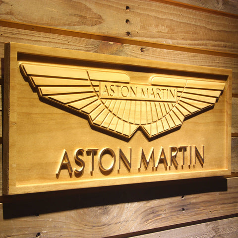 Aston Martin Wooden Sign - - SafeSpecial