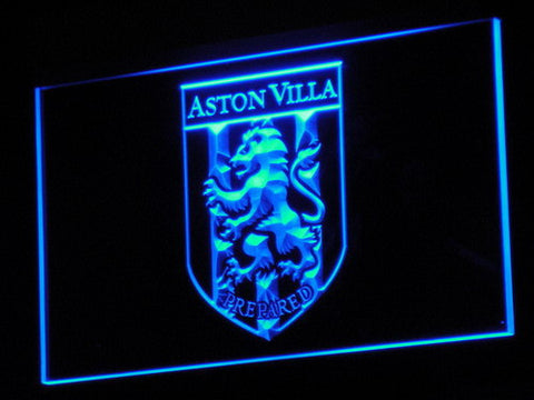 Aston Villa FC 2000-2007 Logo LED Neon Sign - Legacy Edition - Blue - SafeSpecial