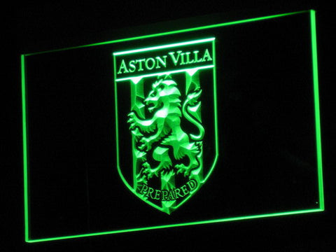 Aston Villa FC 2000-2007 Logo LED Neon Sign - Legacy Edition - Green - SafeSpecial