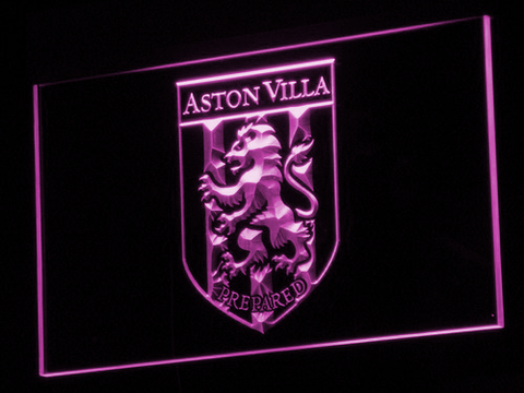 Aston Villa FC 2000-2007 Logo LED Neon Sign - Legacy Edition - Purple - SafeSpecial