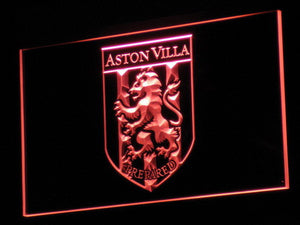 Aston Villa FC 2000-2007 Logo LED Neon Sign - Legacy Edition - Red - SafeSpecial