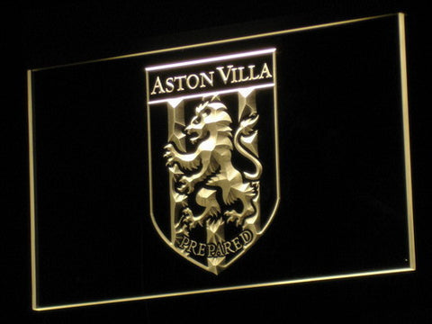 Aston Villa FC 2000-2007 Logo LED Neon Sign - Legacy Edition - Yellow - SafeSpecial