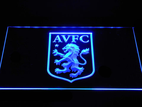 Aston Villa FC LED Neon Sign - Blue - SafeSpecial