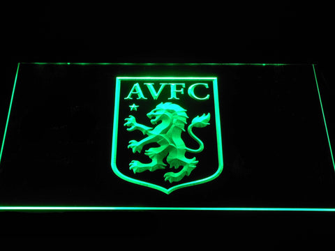 Aston Villa FC LED Neon Sign - Green - SafeSpecial