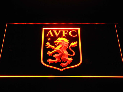Aston Villa FC LED Neon Sign - Orange - SafeSpecial