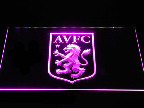 Aston Villa FC LED Neon Sign - Purple - SafeSpecial