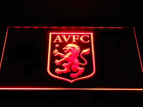 Aston Villa FC LED Neon Sign - Red - SafeSpecial