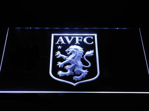 Aston Villa FC LED Neon Sign - White - SafeSpecial