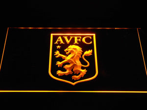 Aston Villa FC LED Neon Sign - Yellow - SafeSpecial