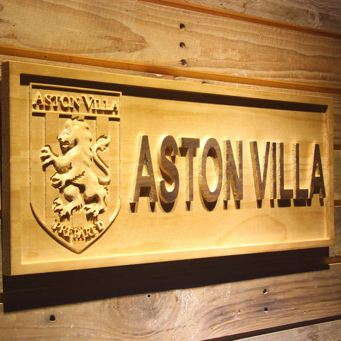 Aston Villa FC Wooden Sign - Legacy Edition - - SafeSpecial