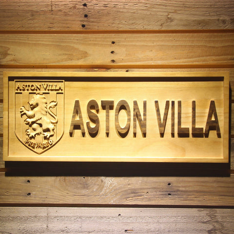 Aston Villa FC Wooden Sign - Legacy Edition - Small - SafeSpecial