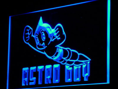 Astro Boy LED Neon Sign - Blue - SafeSpecial