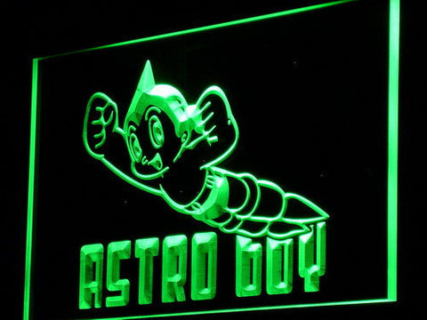 Astro Boy LED Neon Sign - Green - SafeSpecial