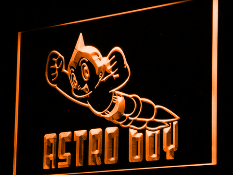 Astro Boy LED Neon Sign - Orange - SafeSpecial