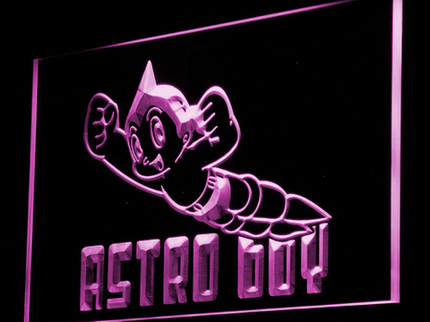 Astro Boy LED Neon Sign - Purple - SafeSpecial