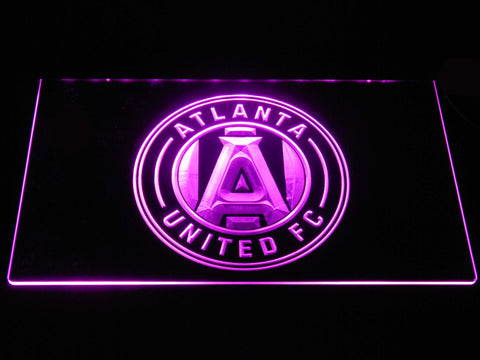 Image of Atlanta United FC LED Neon Sign - Purple - SafeSpecial