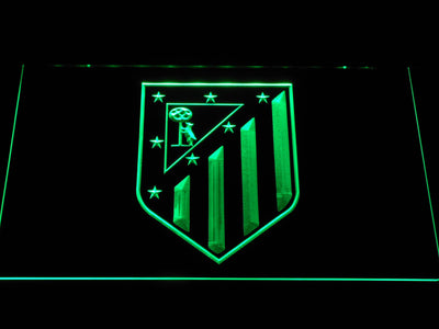 Atletico Madrid Crest LED Neon Sign - Green - SafeSpecial