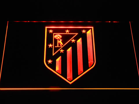 Atletico Madrid Crest LED Neon Sign - Orange - SafeSpecial