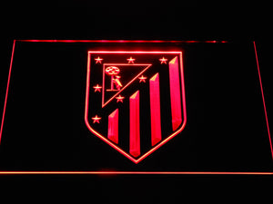 Atletico Madrid Crest LED Neon Sign - Red - SafeSpecial