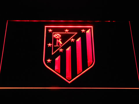 Image of Atletico Madrid Crest LED Neon Sign - Red - SafeSpecial