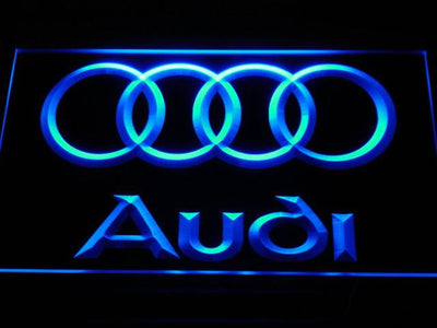 Audi LED Neon Sign - Blue - SafeSpecial