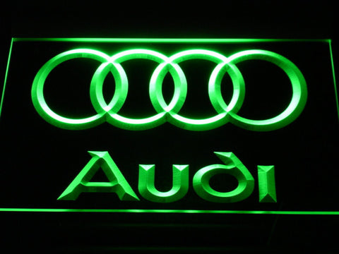 Audi LED Neon Sign - Green - SafeSpecial