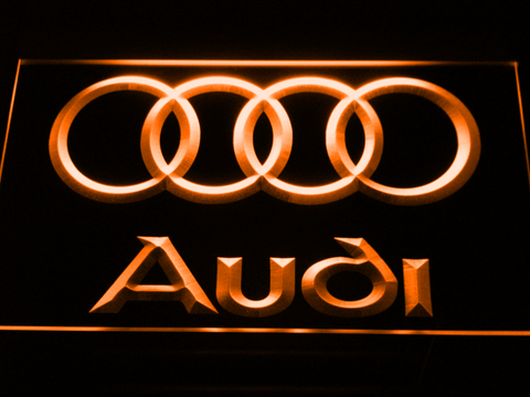 Audi LED Neon Sign - Orange - SafeSpecial