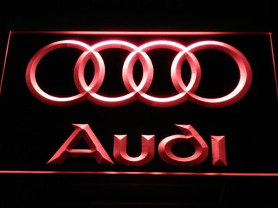 Audi LED Neon Sign - Red - SafeSpecial
