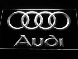 Audi LED Neon Sign - White - SafeSpecial